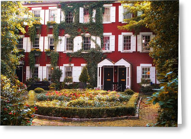 Grove Court Charm Greeting Card by Jessica Jenney
