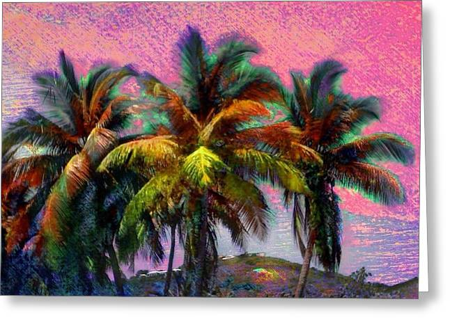 Grove Of Coconut Trees - Square Greeting Card