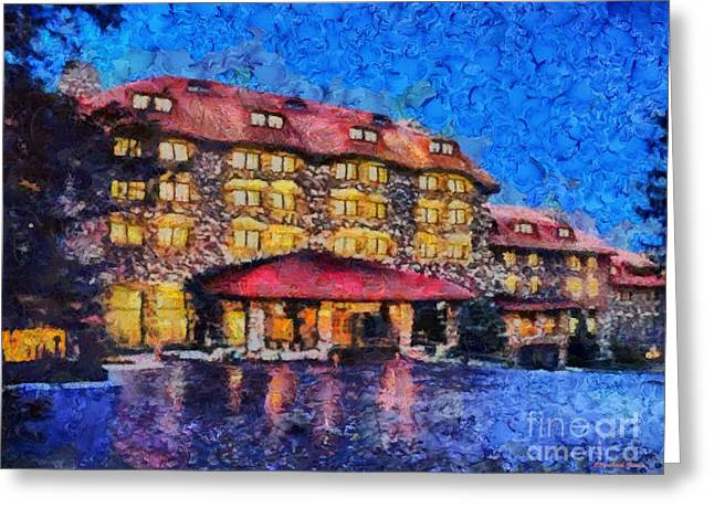 Grove Park Inn Greeting Card by Elizabeth Coats