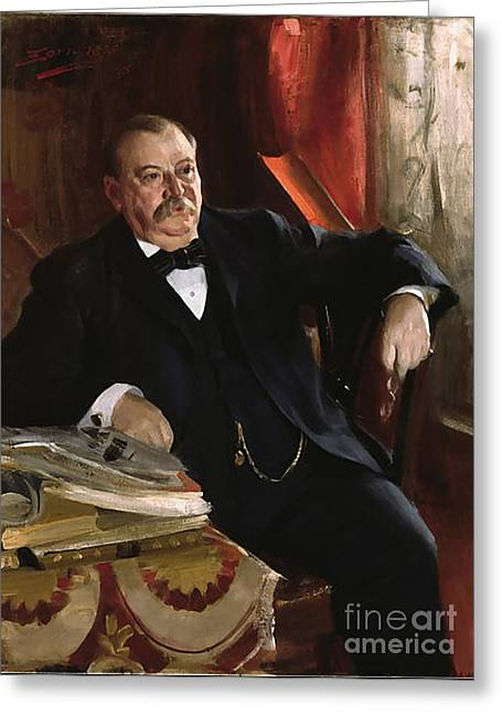 Grover Cleveland Greeting Card by Aners Zorn