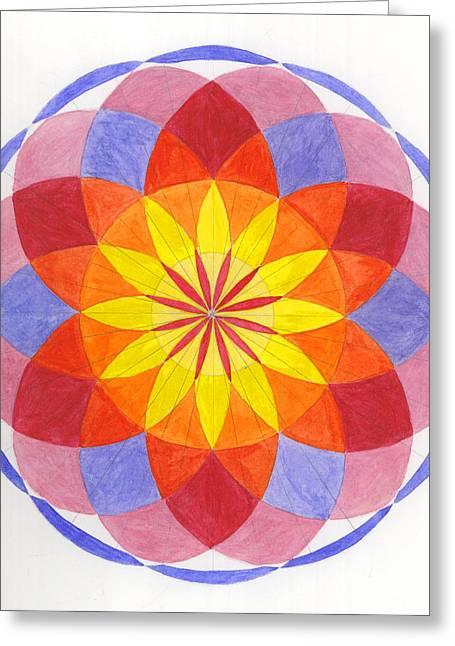 Growing Flower Greeting Card by Silvia Justo Fernandez