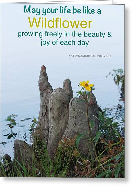 Growing Freely Greeting Card by Cindy Veroline