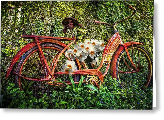 Growing In The Garden Greeting Card by Debra and Dave Vanderlaan