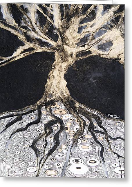 Growing Roots Greeting Card by Tara Thelen