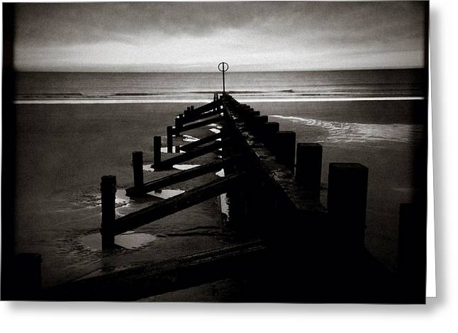 Groyne 1 Greeting Card by Dave Bowman