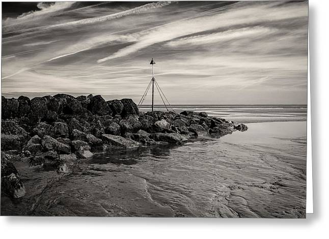 Groyne Marker Greeting Card by Dave Bowman