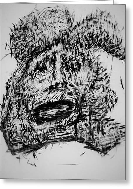 Grudge With In Greeting Card by Oguzhan Bozdag