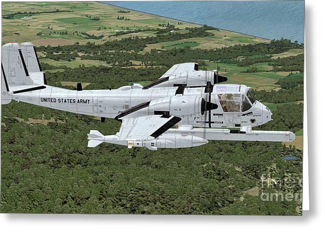 Grumman Ov-1 Mohawk Greeting Card