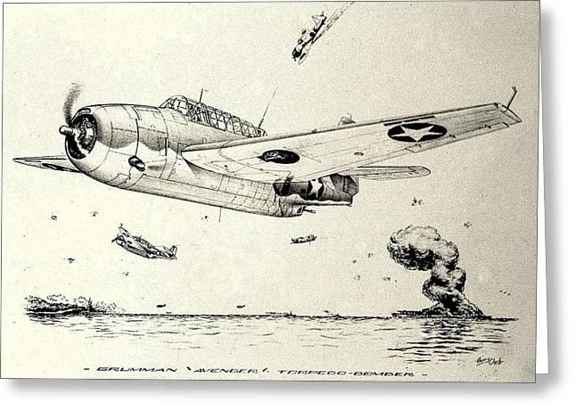 Grumman Tbf-1 Avenger Greeting Card by Hank Clark