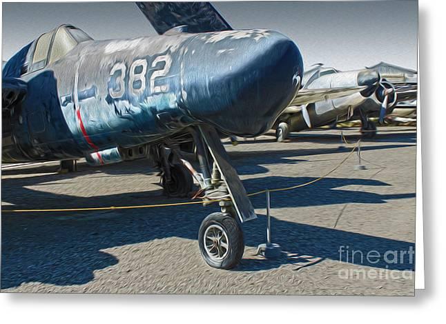 Grumman Tigercat F7f-3n  -  01 Greeting Card by Gregory Dyer