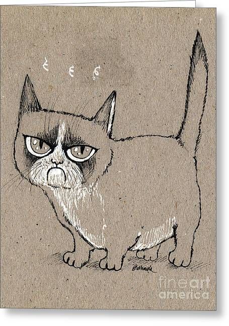 Grumpy Cat Is Grumpy Today Greeting Card