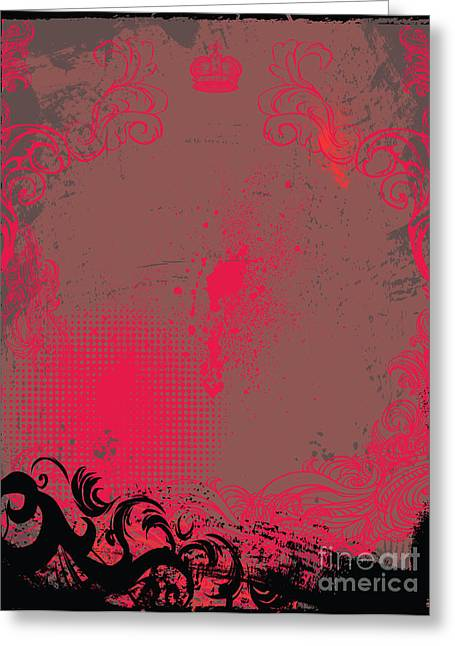 Grunge Background Greeting Card