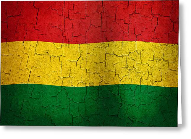 Grunge Bolivia Flag Greeting Card