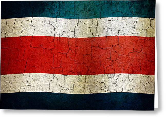 Grunge Costa Rica Flag Greeting Card