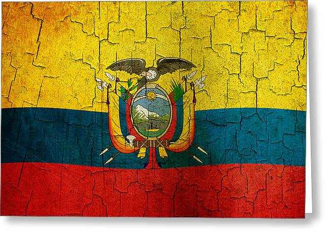Grunge Ecuador Flag Greeting Card