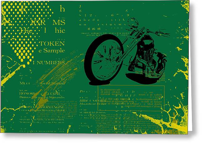 Grunge Motorcycle Background Vector Greeting Card