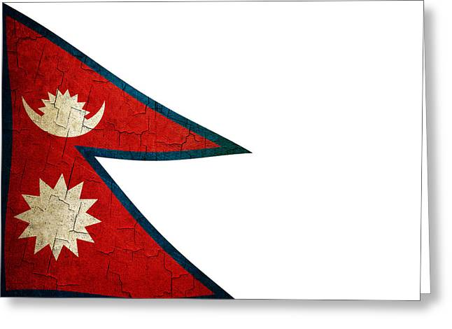 Grunge Nepal Flag Greeting Card