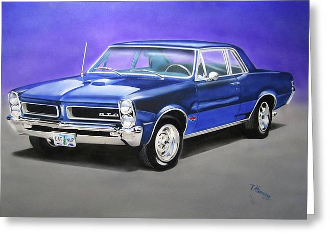 Greeting Card featuring the painting Gto 1965 by Thomas J Herring