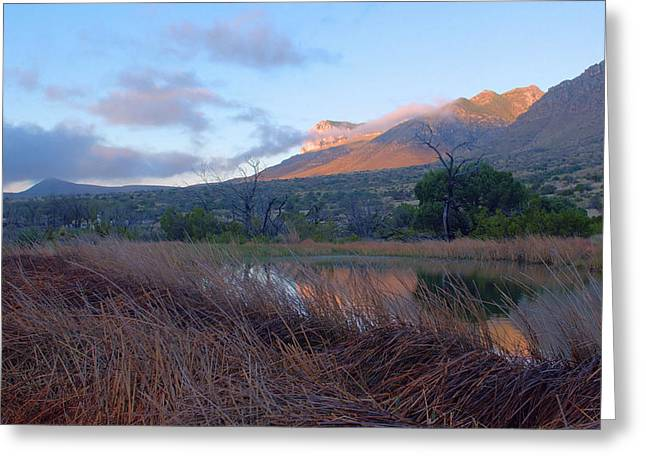 Guadalupe Mountains Sunrise Greeting Card by Stephen  Vecchiotti