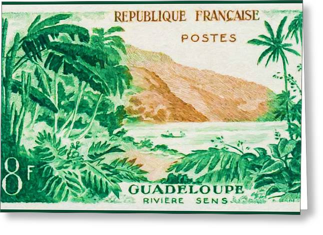Guadeloupe River Sens Greeting Card