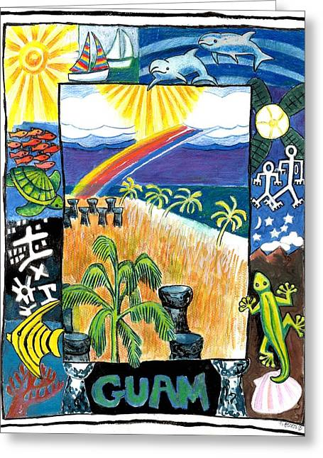 Guam Greeting Card by Genevieve Esson