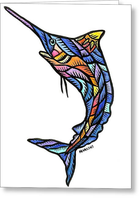 Guam Marlin 2009 Greeting Card by Marconi Calindas