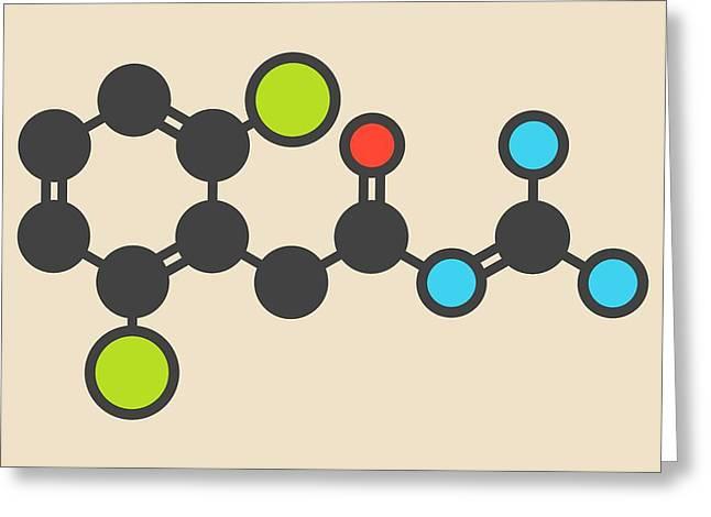 Guanfacine Adhd Drug Molecule Greeting Card