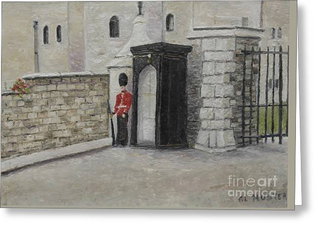 Guard At Windsor Castle Greeting Card