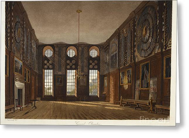 Guard Chamber, Hampton Court Greeting Card by British Library