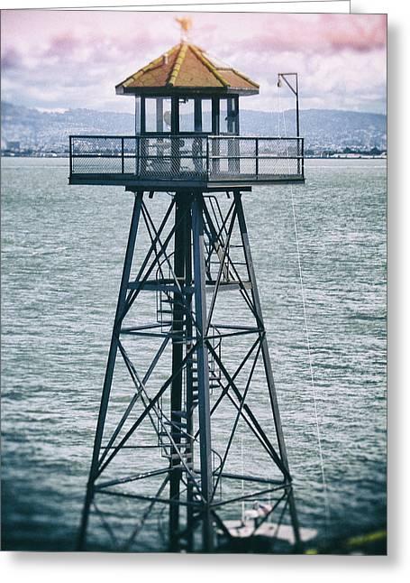 Guard Tower Alcatraz Greeting Card
