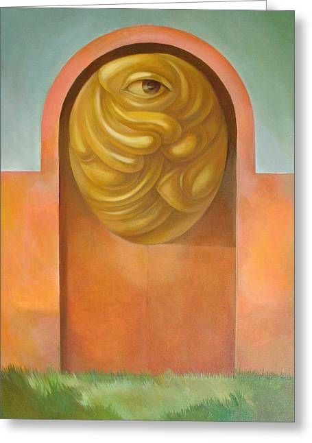 Guarded Gate Greeting Card by Filip Mihail