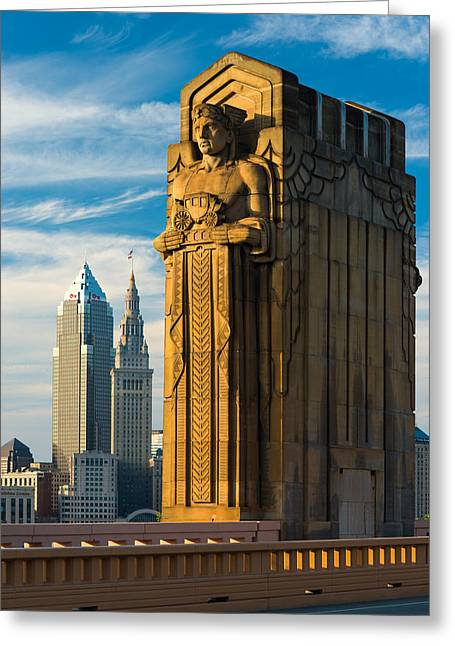 Guardian And Towers Greeting Card