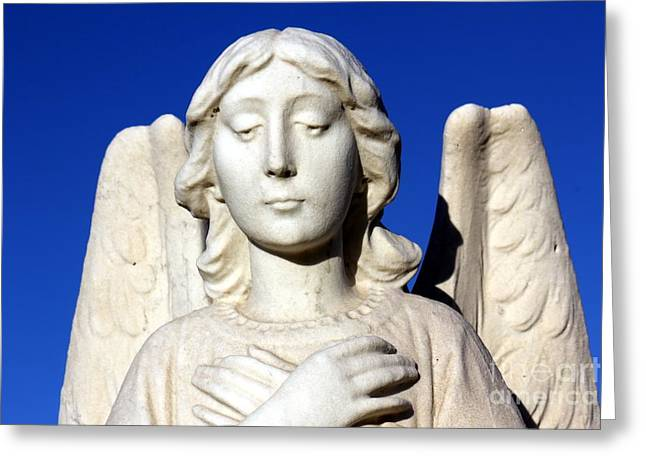 Portrait Sculpture Photograph Greeting Cards - Guardian Angel 2 Greeting Card by Sophie Vigneault
