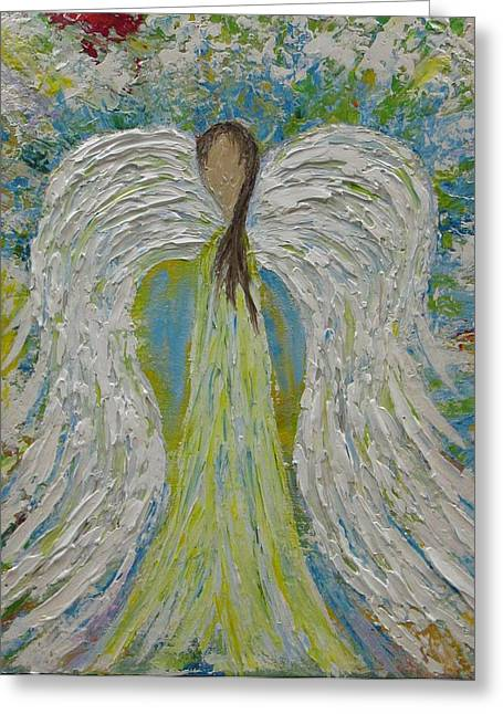 Guardian Angel II Greeting Card by Molly Roberts
