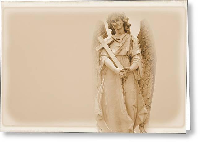 Guardian Angel Greeting Card by Nadalyn Larsen