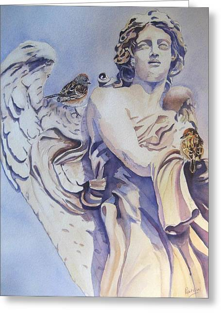 Guardian Angel Greeting Card by Patricia Pushaw