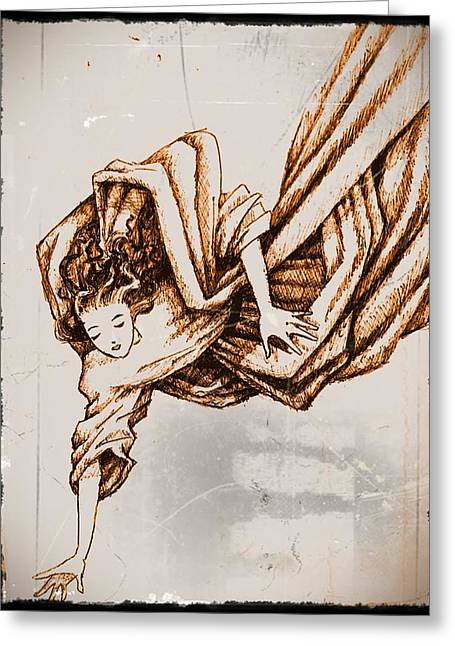 Guardian Angel Greeting Card by Paulo Zerbato