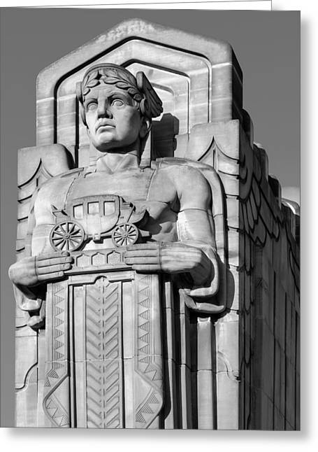 Guardian In Black And White Greeting Card
