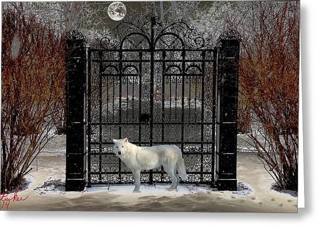 Guardian Of The Gate Greeting Card
