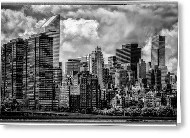 Greeting Card featuring the photograph Guardians Of The City In New York by Linda Karlin