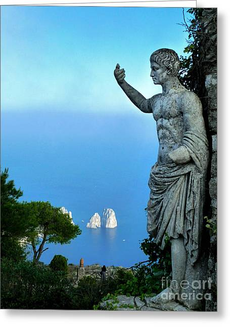 Greeting Card featuring the photograph Guarding The Water by Mike Ste Marie
