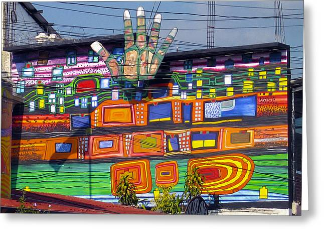 Guatemala Street Art 1 Greeting Card by Kurt Van Wagner