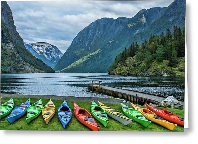 Gudvangen, Norway Fabulous Fjord Called Greeting Card