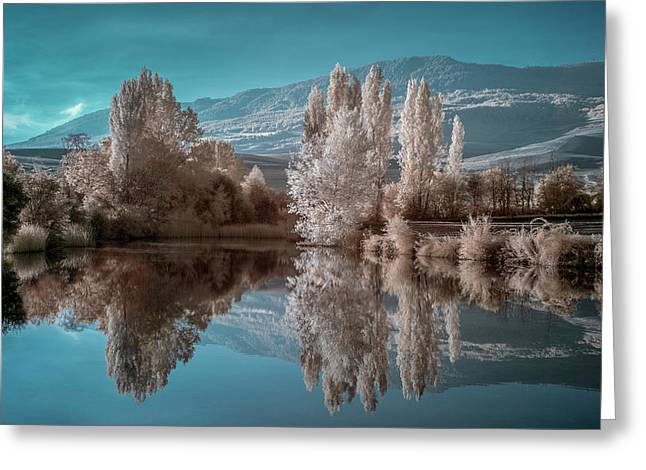 Guendulain Lake (infrared) Greeting Card