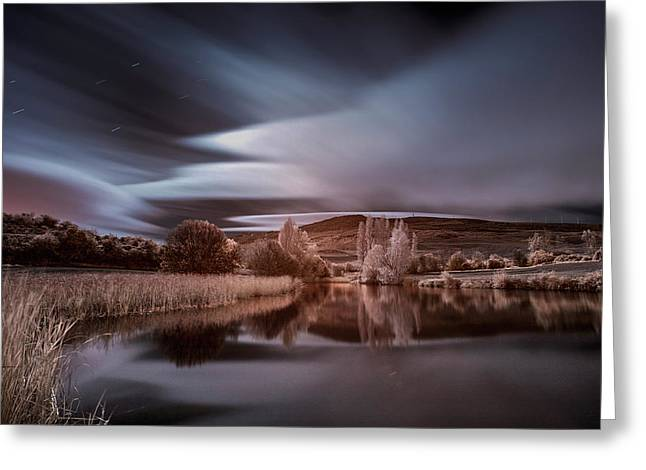 Guendulain Night Infrared Greeting Card