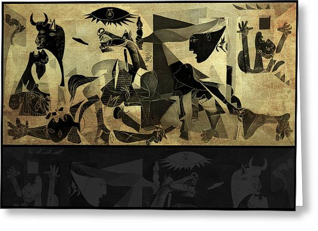 Guernica 14 Greeting Card by Filippo B