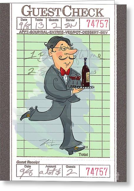 Guest Check Waiter Greeting Card