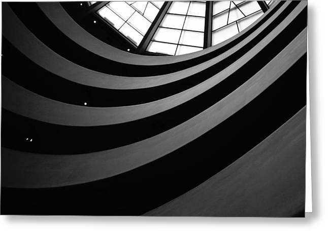 Guggenheim Inside 2 Greeting Card by Becky Kozlen