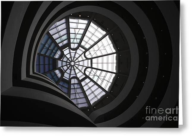 Guggenheim Interior Greeting Card by David Bearden