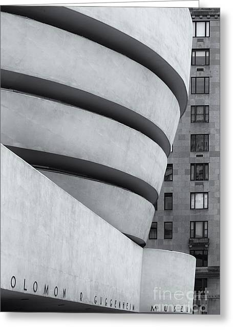 Guggenheim View 1 Bw Greeting Card by Jerry Fornarotto